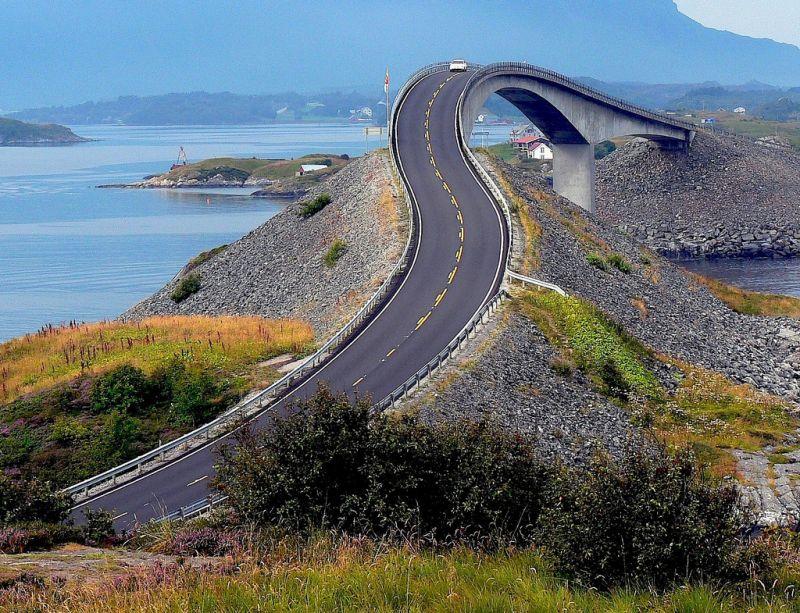 Атлантическая дорога Норвегия на карте